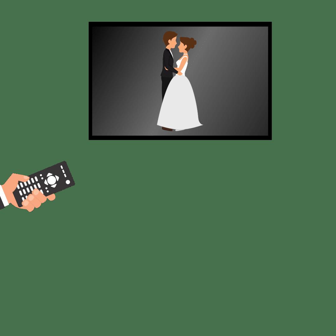 Mariage filmé en live